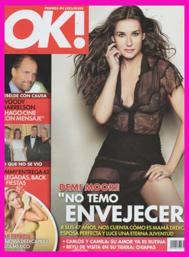 Demi Moore en Revista OK