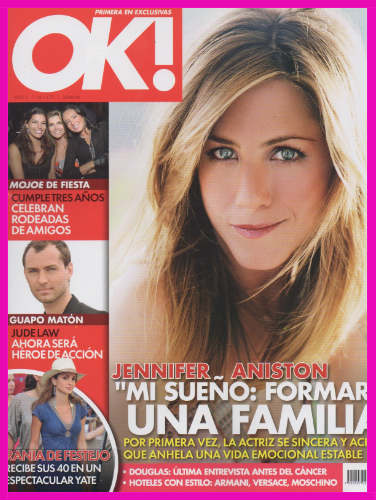 Jennifer Aniston en Revista OK!