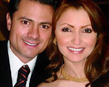 Angelica Rivera y Enrique Peña Nieto