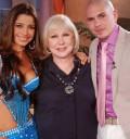 Cristina con Pitbull y Pilar Montenegro