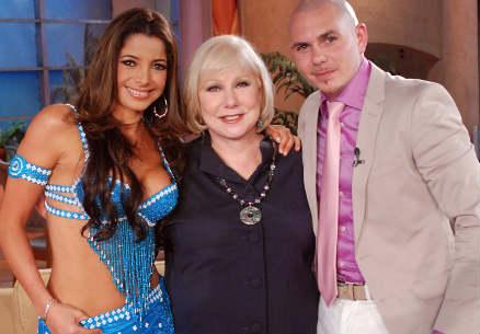 Pilar Montenegro y Pitbull en El Show de Cristina
