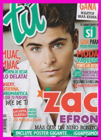 Zac Efron en Revista Tú