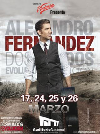 Alejandro Fernández en Auditorio Nacional marzo de 2011