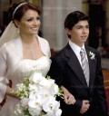 Angelica Rivera y Peña Nieto en su boda