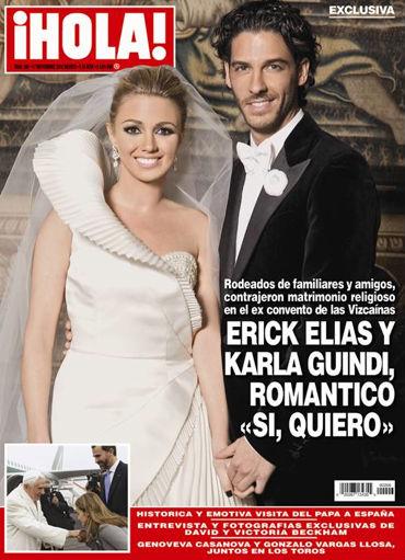 La Boda de Erick Elías en Revista Hola