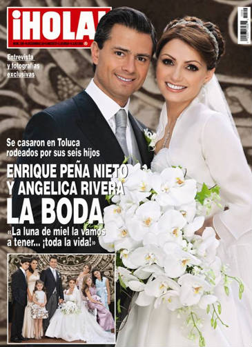 Boda de Angelica Rivera y Enrique Peña Nieto en Hola