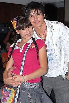 Eleazar Gomez y Danna Paola