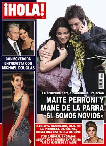 Maite Perroni y Mane de la parra confirman noviazgo