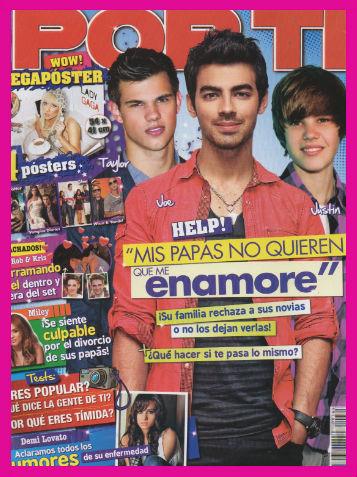 Justin Bieber, Taylor y Joe Jonas en Revista Por Ti