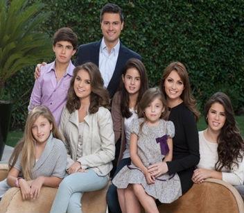 Angelica Rivera y su familia