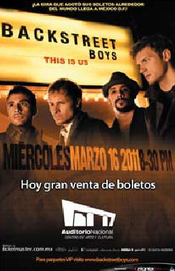 Backstreet Boys en Auditorio Nacional 16 marzo 2011