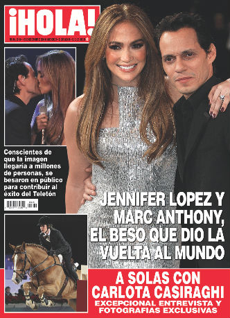 Jennifer López y Marc Anthony en Hola