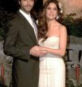 Paty Manterola con su esposo en su boda