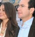 Paty Lu y su esposo en la Plaza de Toros