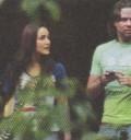 Dulce María con Hector Silva