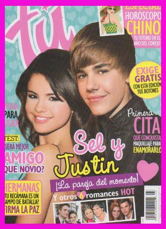 Selena Gómez y Justin Bieber en Revista Tú