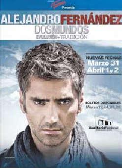 Alejandro Fernandez nuevas fechas en Auditorio Nacional