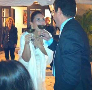 Angélica Vale se casó en Miami