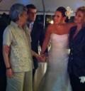 Angelica Vale en su boda con Angélica María