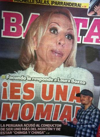 Facundo llama Momia a Laura Bozzo