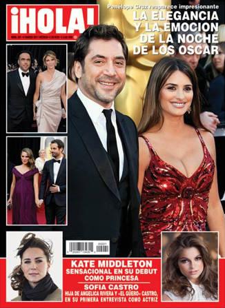 Los mejor de los Oscar en Revista Hola