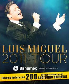 Llega a 200 presentaciones en Auditorio Nacional Luis Miguel
