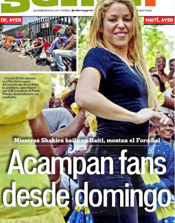 Shakira ya está en México