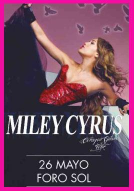 Costos de los boletos para Miley Cyrus en México