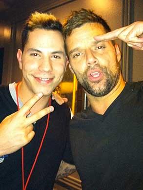 Christian Chávez se presume junto a Ricky Martin