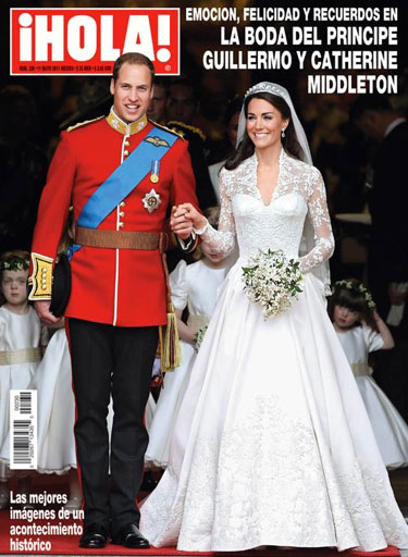 La boda del Principe Guillermo con Catherine Middleton en Hola