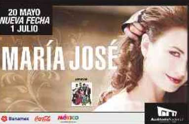 María José en Auditorio Nacional 1 de julio