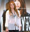 Miley Cyrus con medios mexicanos