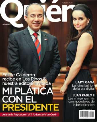 Ana de la Reguera con Felipe Calderón