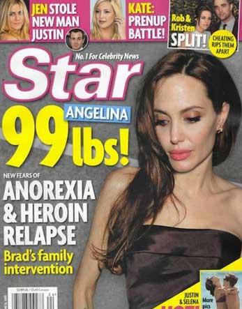 Angelina Jolie criticada por su delgadez