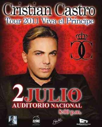 Cristian Castro en Auditorio Nacional 2 de julio
