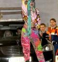 Lady Gaga en Paris con cabello verde