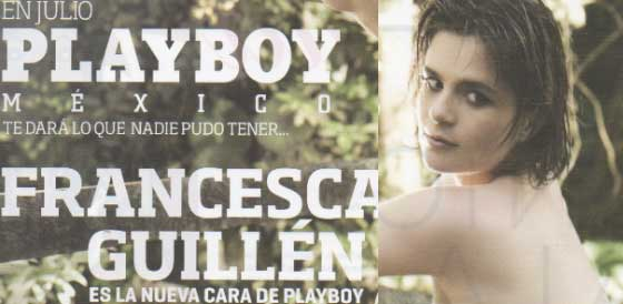 Francesca Guillén en PlayBoy de julio