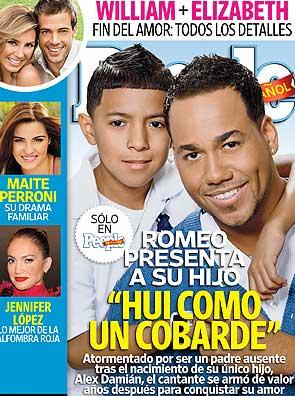 Romeo presenta a su hijo en People en Español