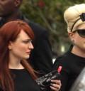 Kely Osborne en funeral de Amy Winehouse