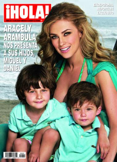 Aracely Arámbula presenta a sus hijos en Hola