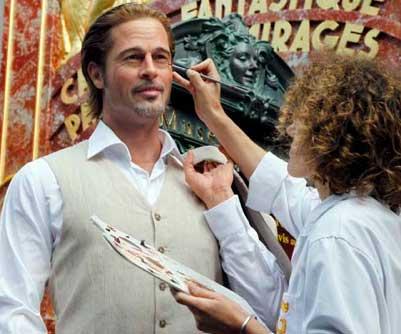 Muestran Figura de cera de Brad Pitt