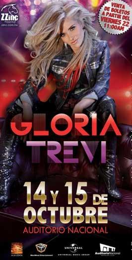 Gloria Trevi en Auditorio Nacional 14 y 15 de octubre