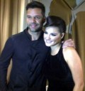 Maite Perroni con Ricky Martin