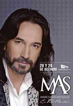 Marco Antonio Solis 28 y 29 de octubre en Auditorio Nacional