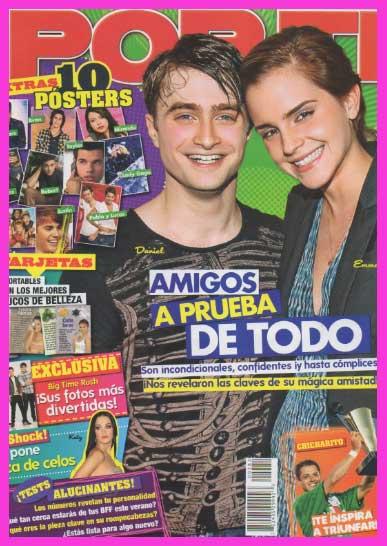 Emma Watson y Daniel Radcliffe en Revista Por Ti