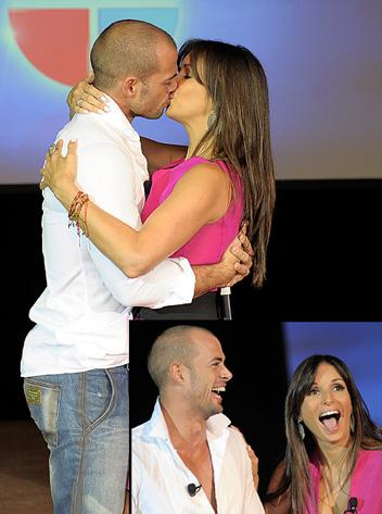 Giselle Blondet besó en la boca a Willim Levy