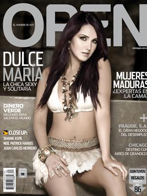 Dulce María en revista Open