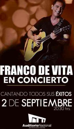 Franco de Vita 2 de septiembre en Auditorio Nacional