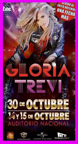 Gloria Trevi en Auditorio Nacional 30 de octubre