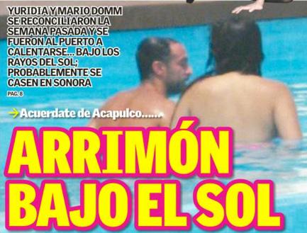 Yuridia y Mario Domm se reconciliaron en Acapulco
